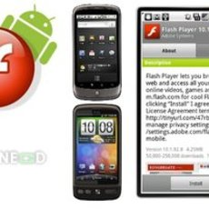 โปรแกรม Flash Player 10.1 สำหรับมือถือแอนดรอยด์ Nexus One, HTC Desire