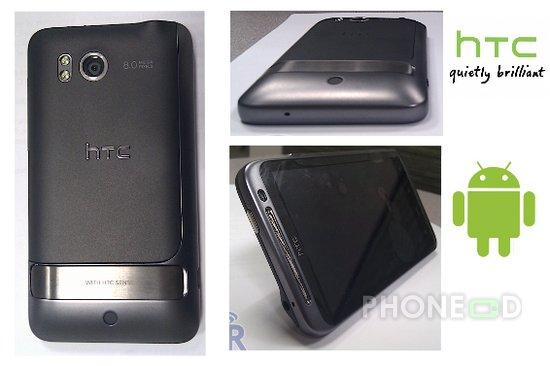 รูป 1 มือถือ HTC ใหม่ ระบบ Android มากับคีย์บอร์ดและจอสัมผัส