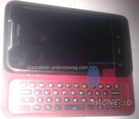 รูป 2 มือถือ HTC ใหม่ ระบบ Android มากับคีย์บอร์ดและจอสัมผัส