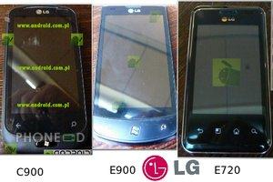 ภาพและข้อมูลมือถือ LG E720, E900 และ C900