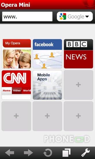 รูป 2 ดาวน์โหลดโปรแกรม Opera Mini 5.1 สำหรับมือถือ Windows Mobile