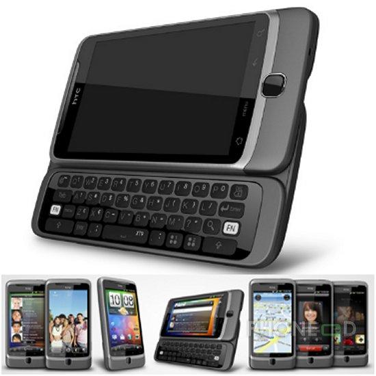 รูป 1 โทรศัพท์ HTC Desire Z