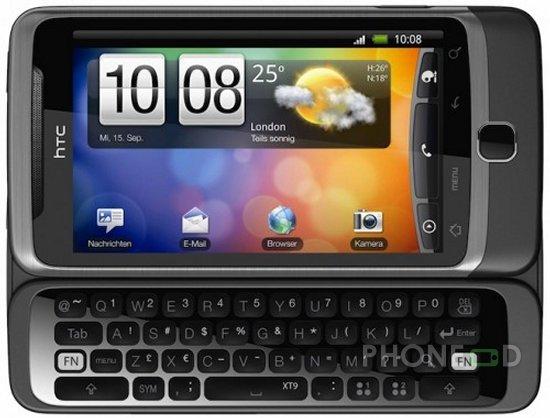 รูป 2 โทรศัพท์ HTC Desire Z