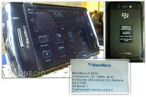 มือถือ Blackberry Storm 9570 มีภาพพร้อมข้อมูลหลุด