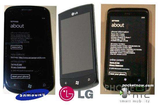 รูป 1 ภาพและสเปคมือถือวินโดวส์โฟน 7 ใหม่ Samsung i917 Cetus, LG E900 และ HTC 7 Trophy