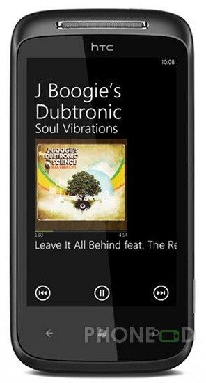 รูป 4 โทรศัพท์ HTC 7 Mozart