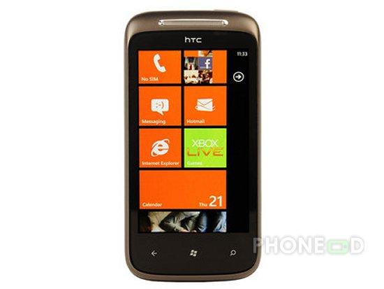 รูป 6 โทรศัพท์ HTC 7 Mozart