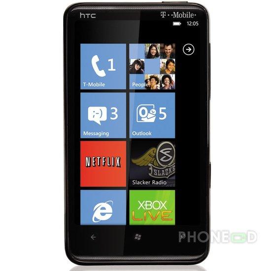 รูป 2 โทรศัพท์มือถือ HTC HD7