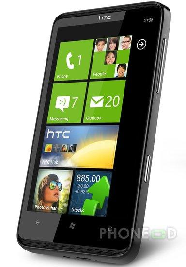 รูป 4 โทรศัพท์มือถือ HTC HD7