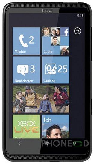 รูป 6 โทรศัพท์มือถือ HTC HD7