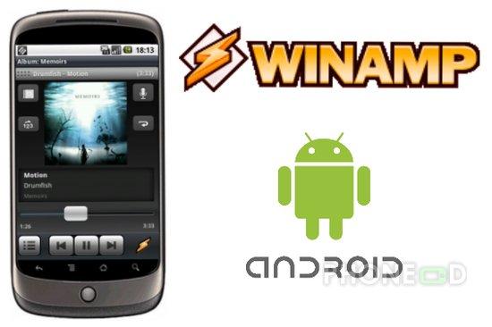 รูป 1 ดาวน์โหลดโปรแกรม Winamp สำหรับมือถือระบบ Android