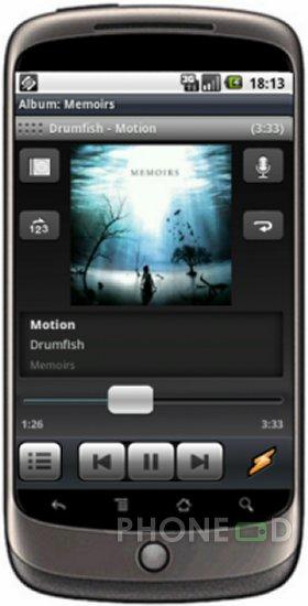 รูป 2 ดาวน์โหลดโปรแกรม Winamp สำหรับมือถือระบบ Android