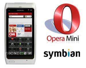 โปรแกรม Opera Mini 5.1 สำหรับมือถือระบบ Symbian