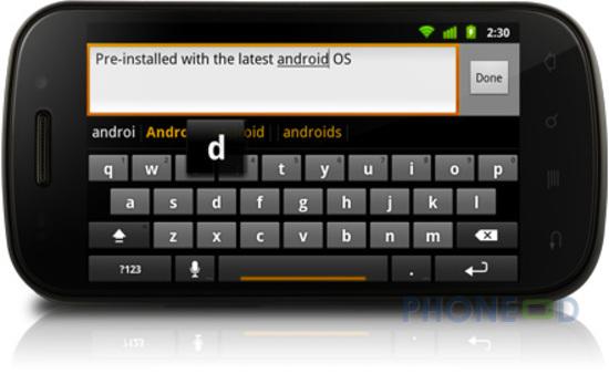 รูป 7 ข้อมูลโทรศัพท์ Google Nexus S