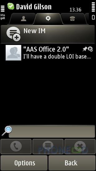 รูป 4 โปรแกรม Skype เวอร์ชั่น 1.50 สำหรับมือถือระบบซิมเบี้ยน