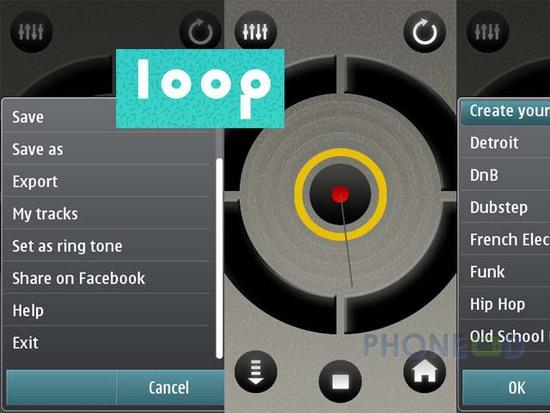 รูป 1 โปรแกรมมือถือฟรี Loop จากโนเกีย