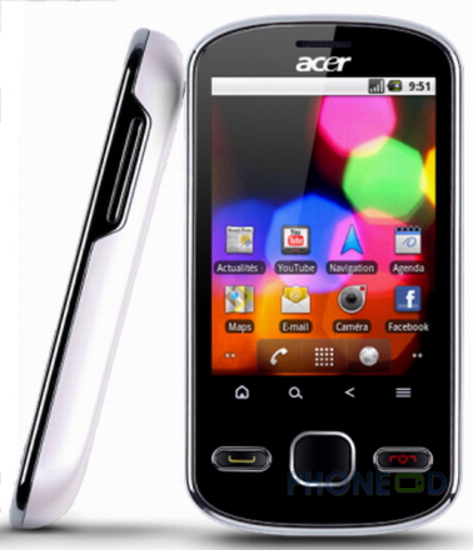 รูป 4 โทรศัพท์มือถือ Acer beTouch E140