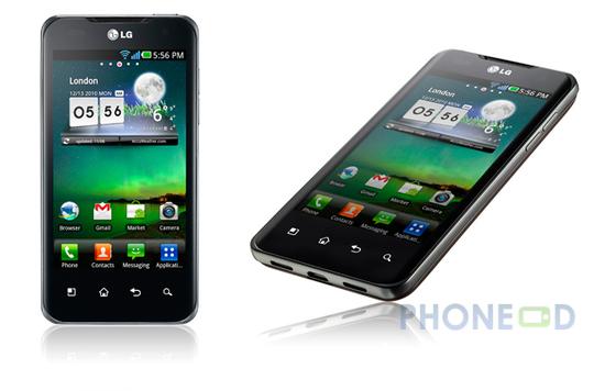 รูป 1 มือถือ LG Optimus 2X