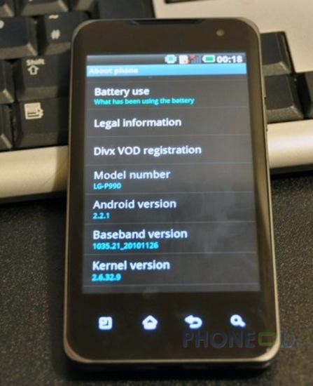 รูป 5 มือถือ LG Optimus 2X