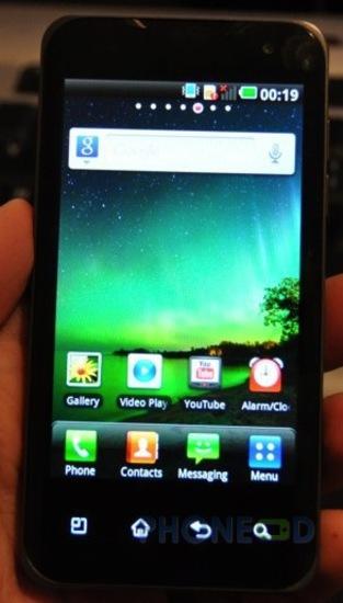 รูป 6 มือถือ LG Optimus 2X