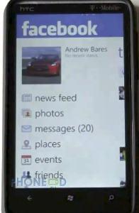 ดาวน์โหลดโปรแกรม Facebook เวอร์ชั่น 1.1 สำหรับมือถือ Windows Phone 7