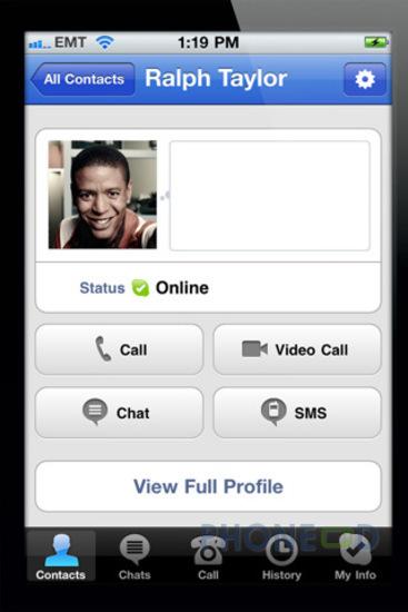 รูป 4 ดาวน์โหลดโปรแกรม Skype เวอร์ชั่น 3.0 สำหรับ iPhone