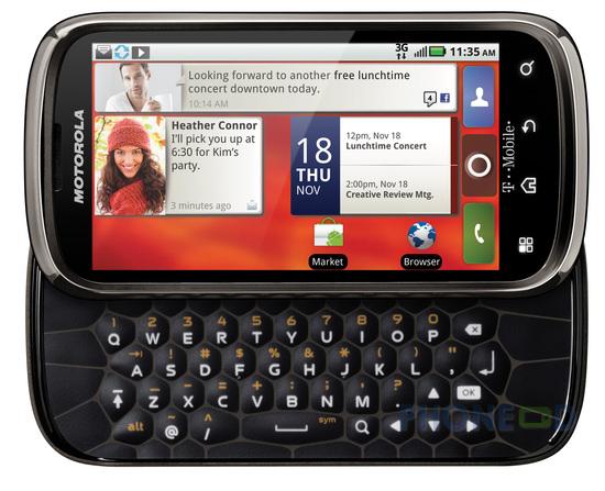 รูป 3 ข้อมูลมือถือ Motorola Cliq 2