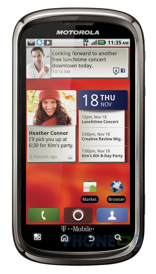 รูป 4 ข้อมูลมือถือ Motorola Cliq 2