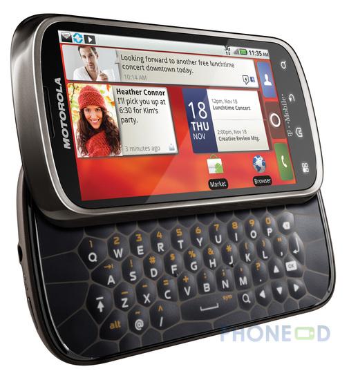 รูป 5 ข้อมูลมือถือ Motorola Cliq 2