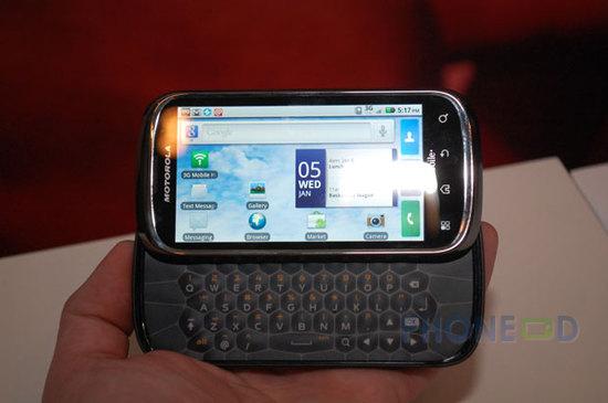 รูป 6 ข้อมูลมือถือ Motorola Cliq 2