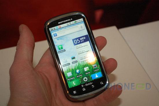 รูป 7 ข้อมูลมือถือ Motorola Cliq 2