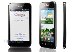 โทรศัพท์ LG Optimus Black