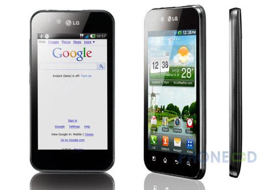 รูป 1 โทรศัพท์ LG Optimus Black
