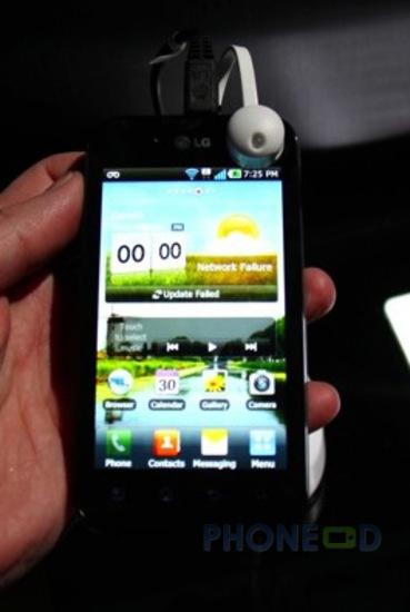 รูป 2 โทรศัพท์ LG Optimus Black