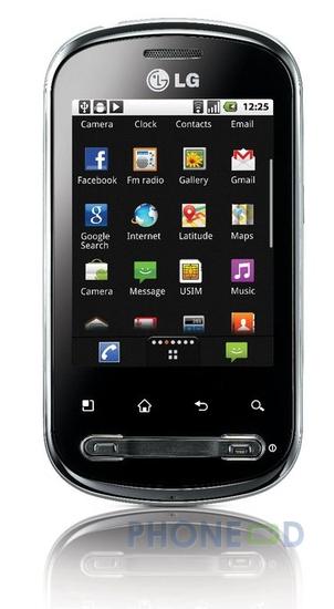 รูป 4 ภาพและข้อมูล LG Optimus Me P350 ก่อนเปิดตัว