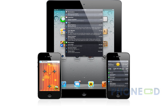 รูป 2 ข้อมูลระบบปฏิบัติการ iOS 5 สำหรับ ไอโฟน, ไอแพด และ ไอพอดทัช