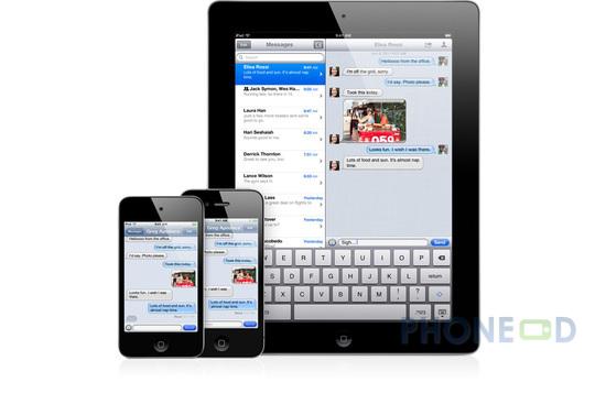 รูป 3 ข้อมูลระบบปฏิบัติการ iOS 5 สำหรับ ไอโฟน, ไอแพด และ ไอพอดทัช