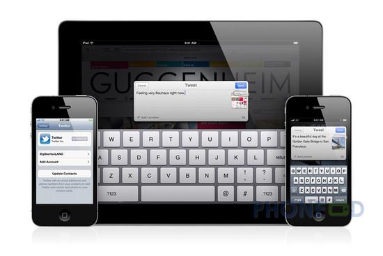 รูป 6 ข้อมูลระบบปฏิบัติการ iOS 5 สำหรับ ไอโฟน, ไอแพด และ ไอพอดทัช