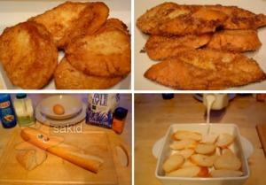 สูตรทำขนมกินเล่น ขนมปังแช่นม ชุปไข่ทอด