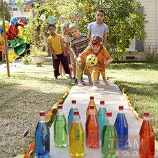 เกมส์โยนโบว์ลิ่ง ทำเอง เล่นนอกบ้าน