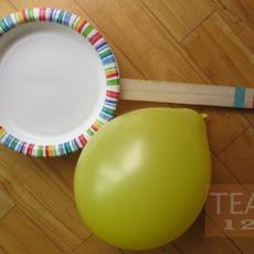 กิจกรรมสนุกๆ ตีลูกโป่ง ด้วยไม้จานกระดาษ