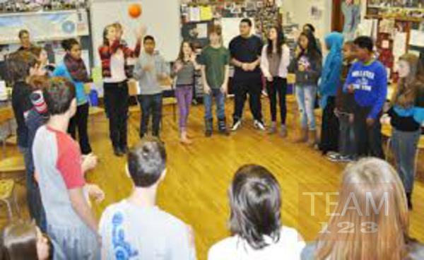 เกมส์โยนลูกบอล ในกลุ่มข้ามไป-มา
