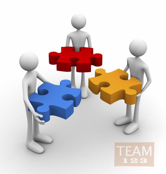 รูป 2 เกมส์ทำงานเป็นทีม ต่อจิ๊กซอ