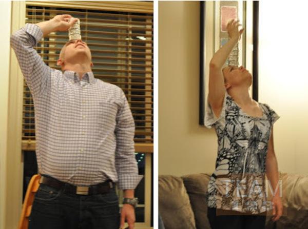 รูป 2 กิจกรรมในร่ม วางถ้วยคัพเค้กบนหน้า ให้ได้มากที่สุด