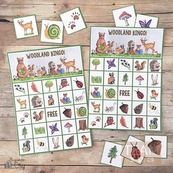 รูป 1 เกมส์บิงโกสนุกๆ สัตว์ป่าน่ารัก