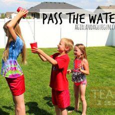 เกมส์เข้าค่ายสนุกๆ ส่งน้ำกลับหลัง
